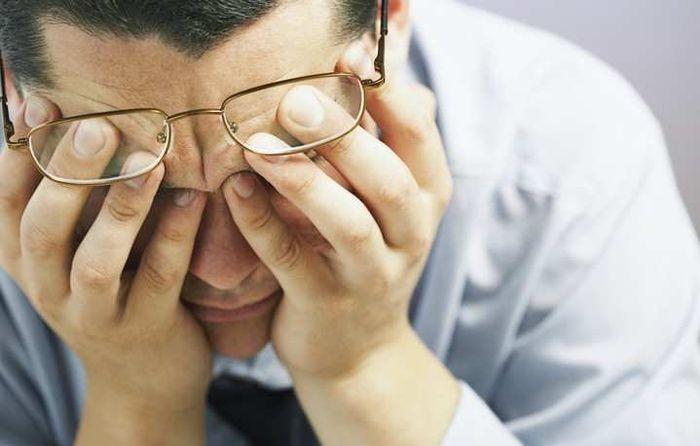 Ухудшение зрения у мужчины