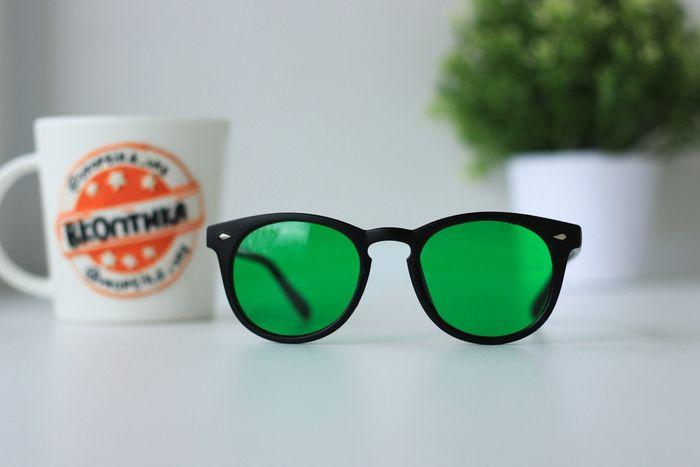 Зеленые очки при глаукоме