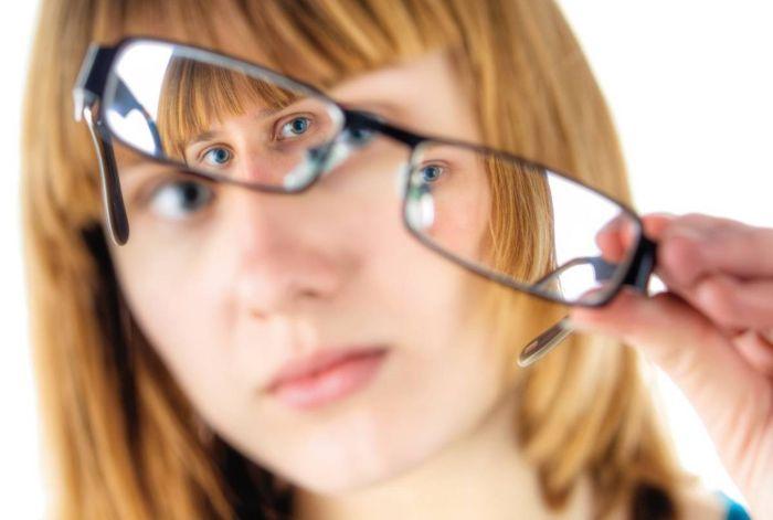 Коррекция миопии очками